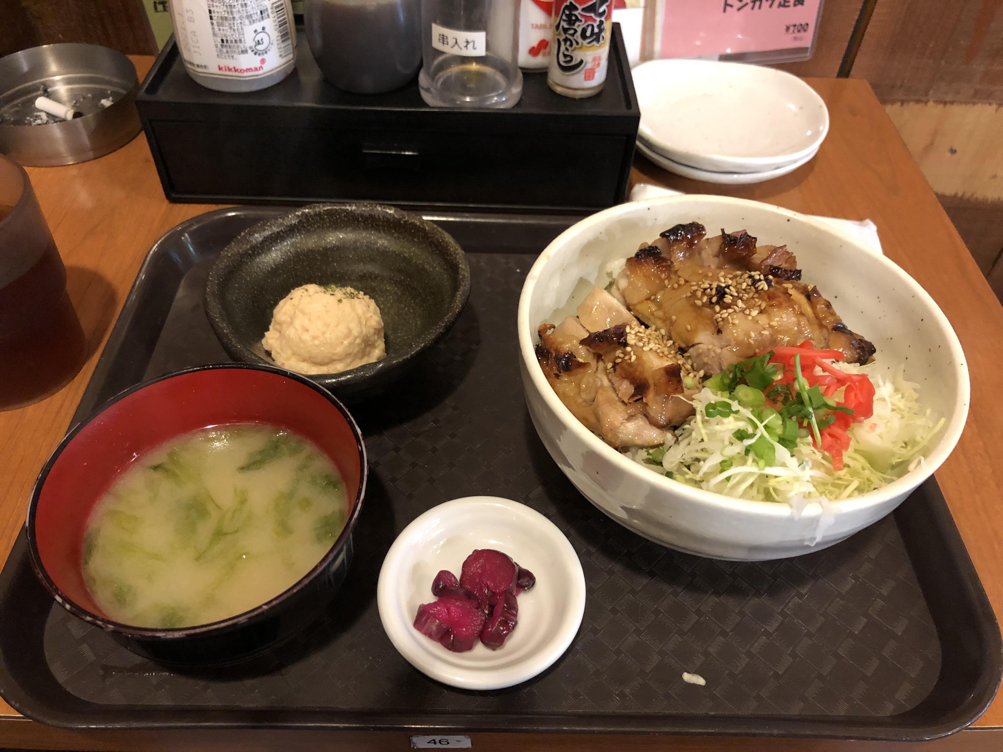 串神坊_鶏もも照り焼き丼定食